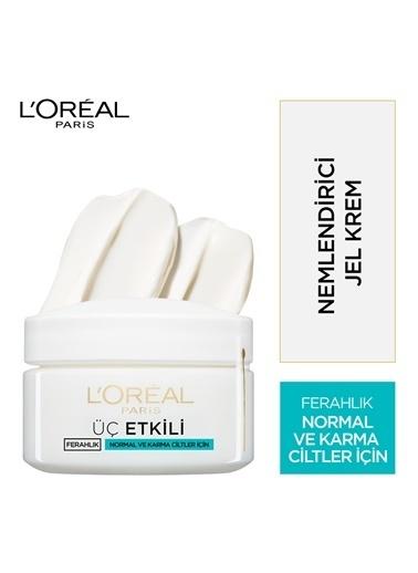 L'Oréal Paris 3 Etkili Ferahlık Günlük Bakım Kremi Normal Ve Karma Ciltler 50Ml Renkli